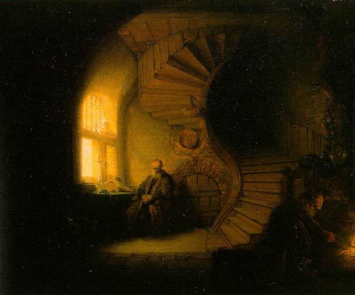 Rembrandt. The Philosopher in Meditation, 1632